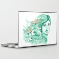 ships Laptop & iPad Skins featuring Paper ships by Pendientera