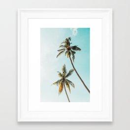 Palm Tree Beach Summer Framed Art Print