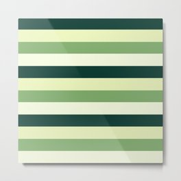 oak leaves. cubistic || striped edition Metal Print