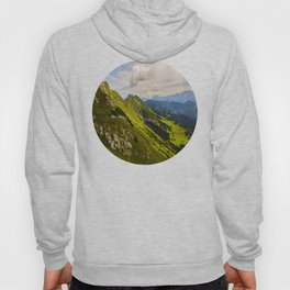 Green Musical Mountains Round Photo Frame Hoody