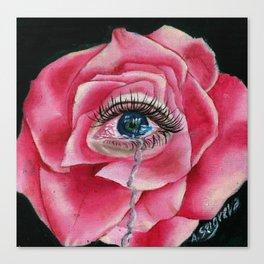 Rose tear Canvas Print