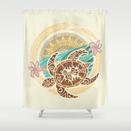 If We Tollerate This Eco Turtle Shower Curtain
