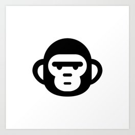 The grumpiest monkey. Art Print