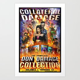 COLLATERAL DAMAGE - The Complete Don Damage Collection Poster Art Art Print