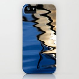 Blue white abstract iPhone Case