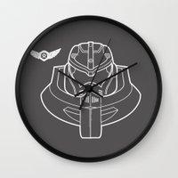 kaiju Wall Clocks featuring KAIJU ALERT!!!  by RootBeerRobot