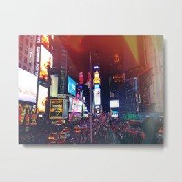Times Square Lights Metal Print