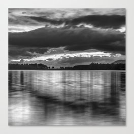"""Sunset After The Storm""  BW Canvas Print"