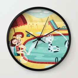 SUMMER MEMORIES WITH MY BEST FRIEND Wall Clock