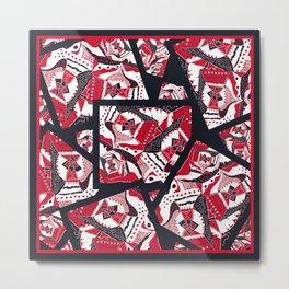 TRICHROMATIC DELIRIUM 2 RED BLACK WHITE Metal Print