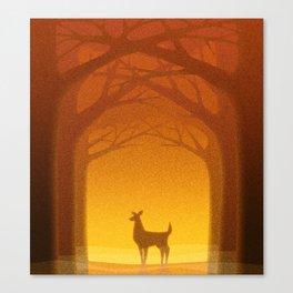 Sunrise Deer Canvas Print