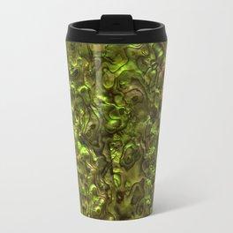 Abalone Shell | Paua Shell | Yellow Tint Metal Travel Mug