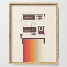 Instant Camera Rainbow Serving Tray