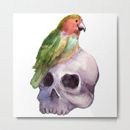 skull lovebird Metal Print