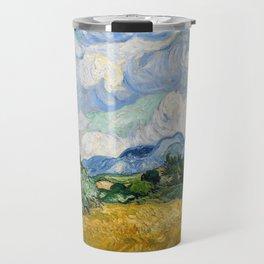Wheat Field with Cypresses - Vincent van Gogh Travel Mug