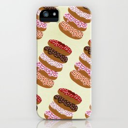 Stacked Donuts on Cream iPhone Case