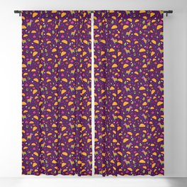 Taco Fiesta in Purple Blackout Curtain