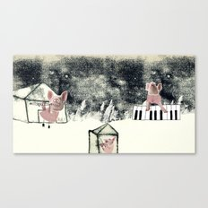 The three little pigs (ANALOG zine) Canvas Print