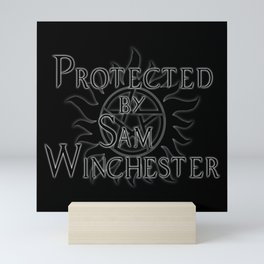 Protected by Sam Winchester Mini Art Print