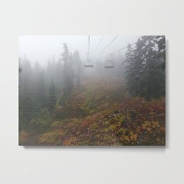 Foggy mountains fall morning Metal Print