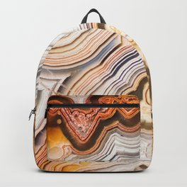Contemporary Fine Art - Agate Abstract Backpack