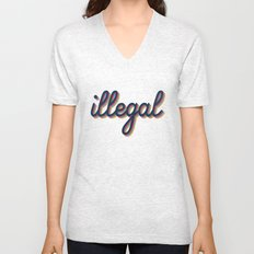 Illegal - yellow version Unisex V-Neck