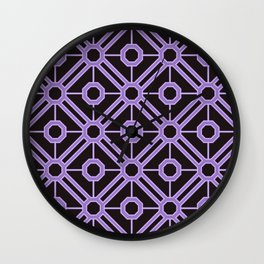 The Purple Octagon Seamless Pattern Wall Clock