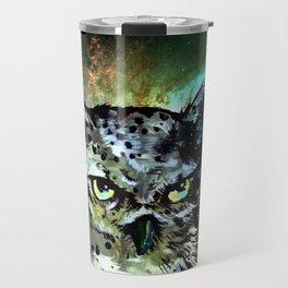 Cosmic Owl is Not Amused Travel Mug