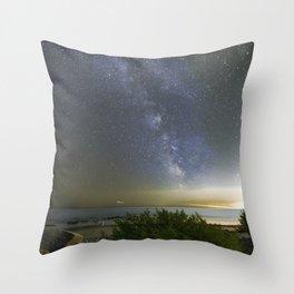 Milkyway at Pebble Beach Throw Pillow