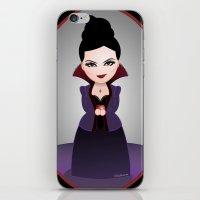 regina mills iPhone & iPod Skins featuring Kokeshi Regina by Pendientera