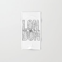London Street Map Typography Hand & Bath Towel