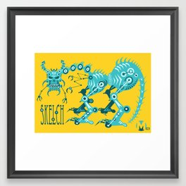 Skelly Framed Art Print