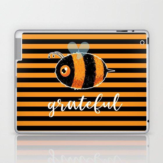Be (Bee) Grateful Cute Funny Gift Women Men Boys Girls Kids Laptop & iPad Skin
