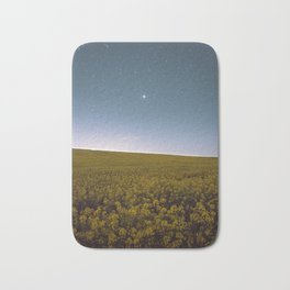 Fields of Yellow, Stars and Blue Bath Mat
