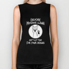 child care provider llama aint not time for your drama animals nurse cat Biker Tank