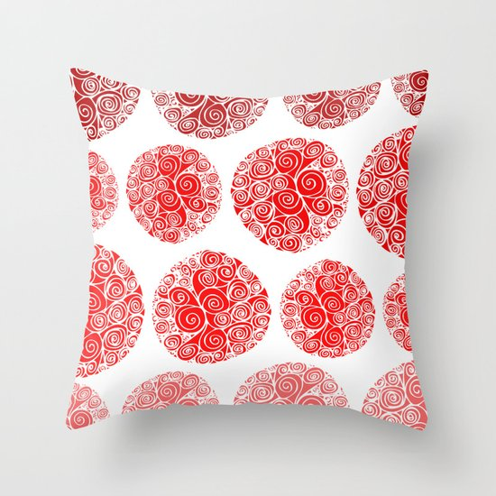 Poppy Filigrane Throw Pillow