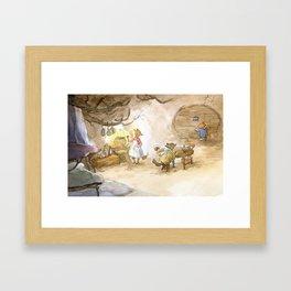 L'Abri - dinner Framed Art Print