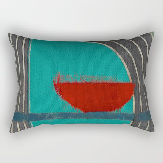 赤容器 (red pot) Rectangular Pillow