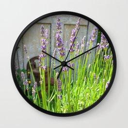 Blooming Garden Lavender Wall Clock