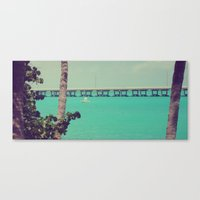 honda Canvas Prints featuring Bahia Honda by Kelley Irby