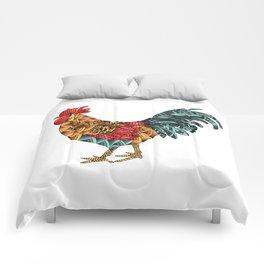 Cockerel. Symbol of 2017 Comforters