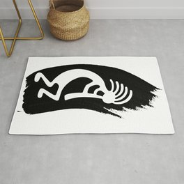 Kokopelli Brush Stroke Rug