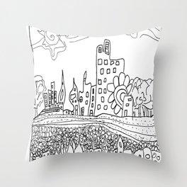 Ciudad de mis amores. Throw Pillow