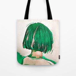 Green Hair Girl Tote Bag
