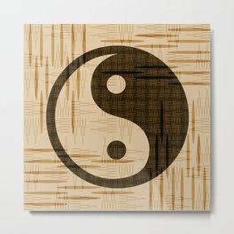 Yin Yang, Warp and Weft Dark Metal Print