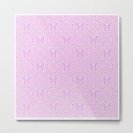 Retro. Pink butterfly. Metal Print