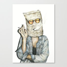 Brown Baggin' It Canvas Print
