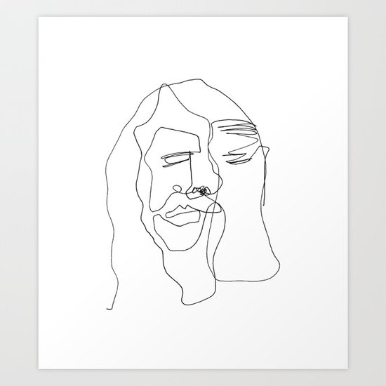 Portrait of Jesus Art Print