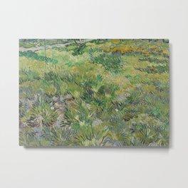 Long Grass with Butterflies Metal Print