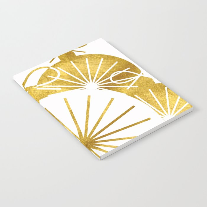 Gold Christmas 01 Notebook